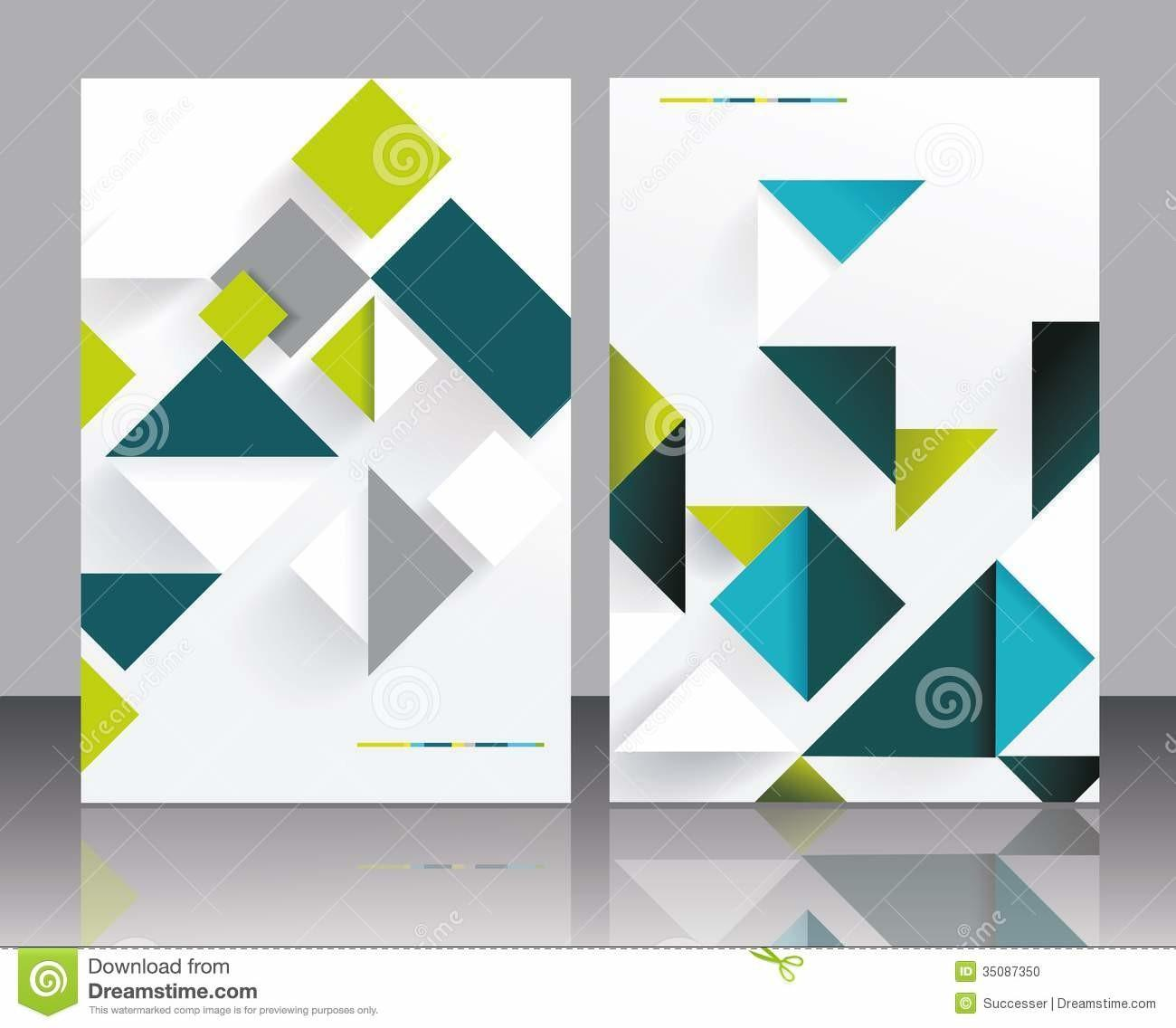 Vector Brochure Template Design Stock