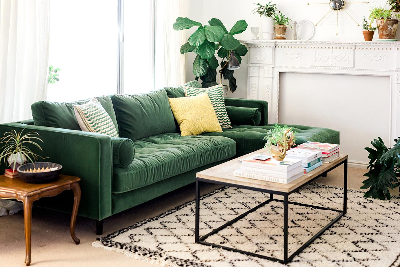 Velvet Sofa Designs Almost Any Living Room