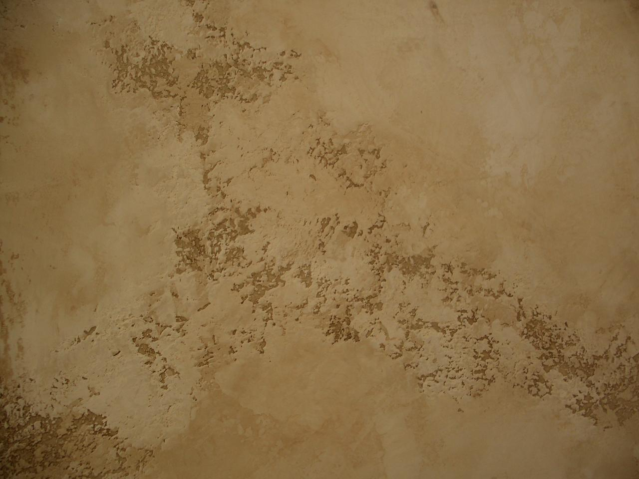 Venetian Plaster Over Textured Walls