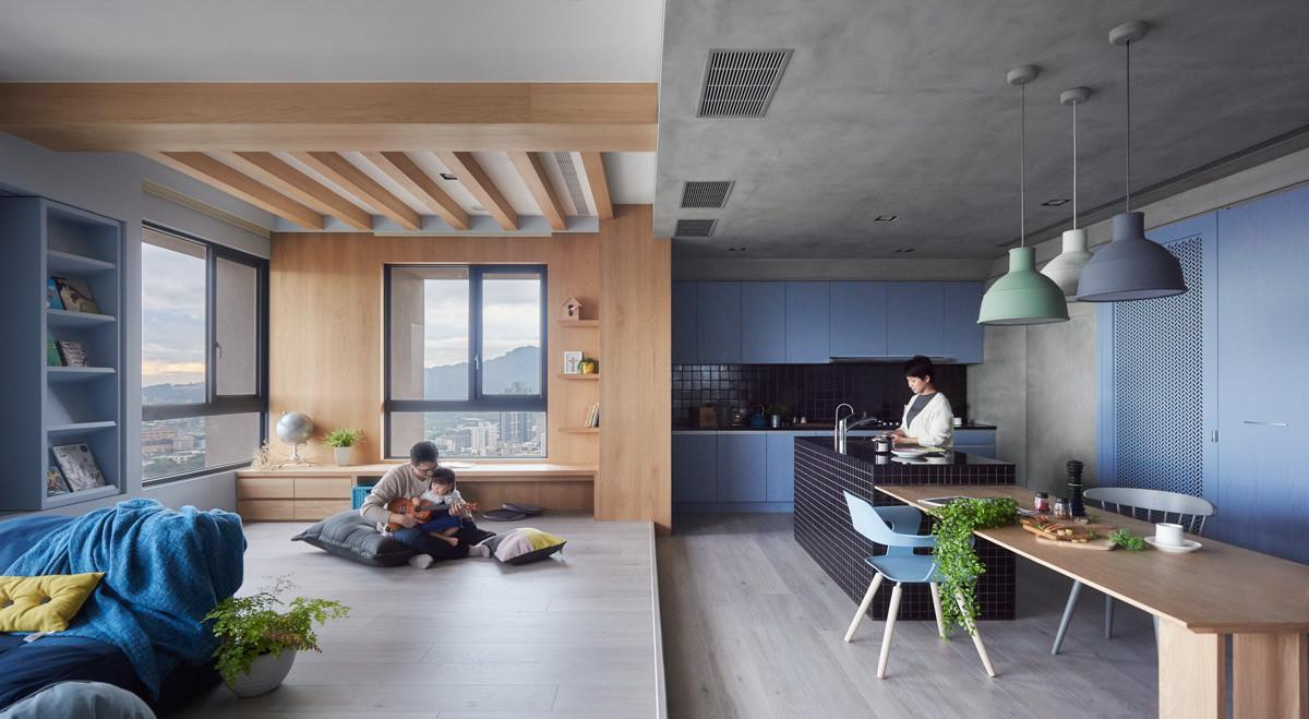 Versatile Taiwanese Family Home Balances Child Adult