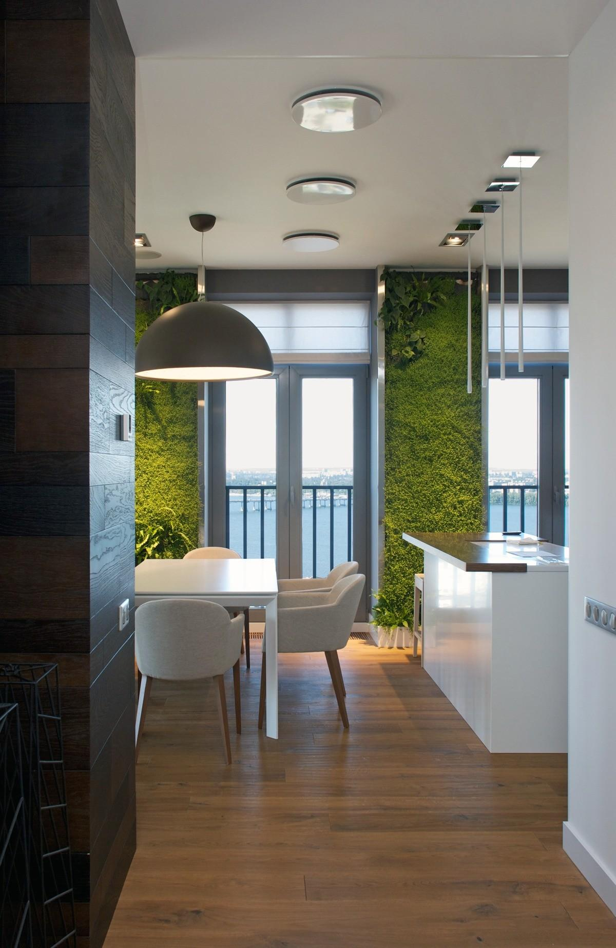 Vertical Garden Walls Add Life Apartment Interior