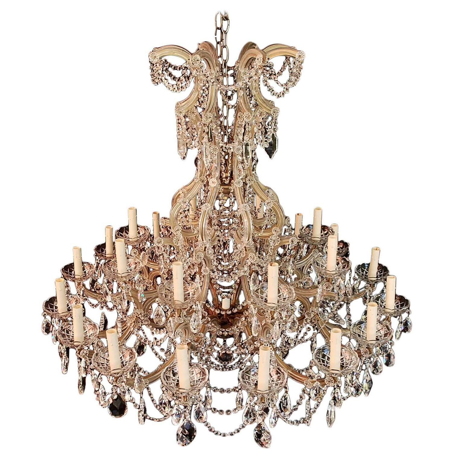 Very Large Imposing Crystal Chandelier Maria Theresa