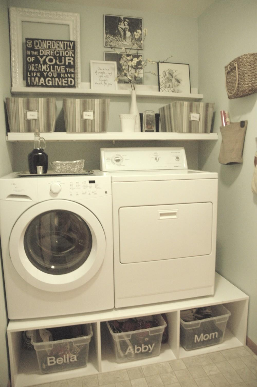Very Small Spaces After Makeover Old Laundry Room Design