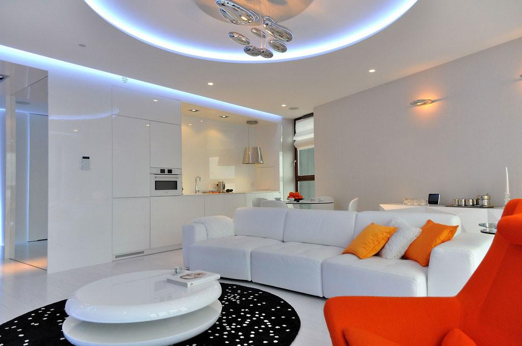 Very Stylish Modern Apartment Poland Integrating