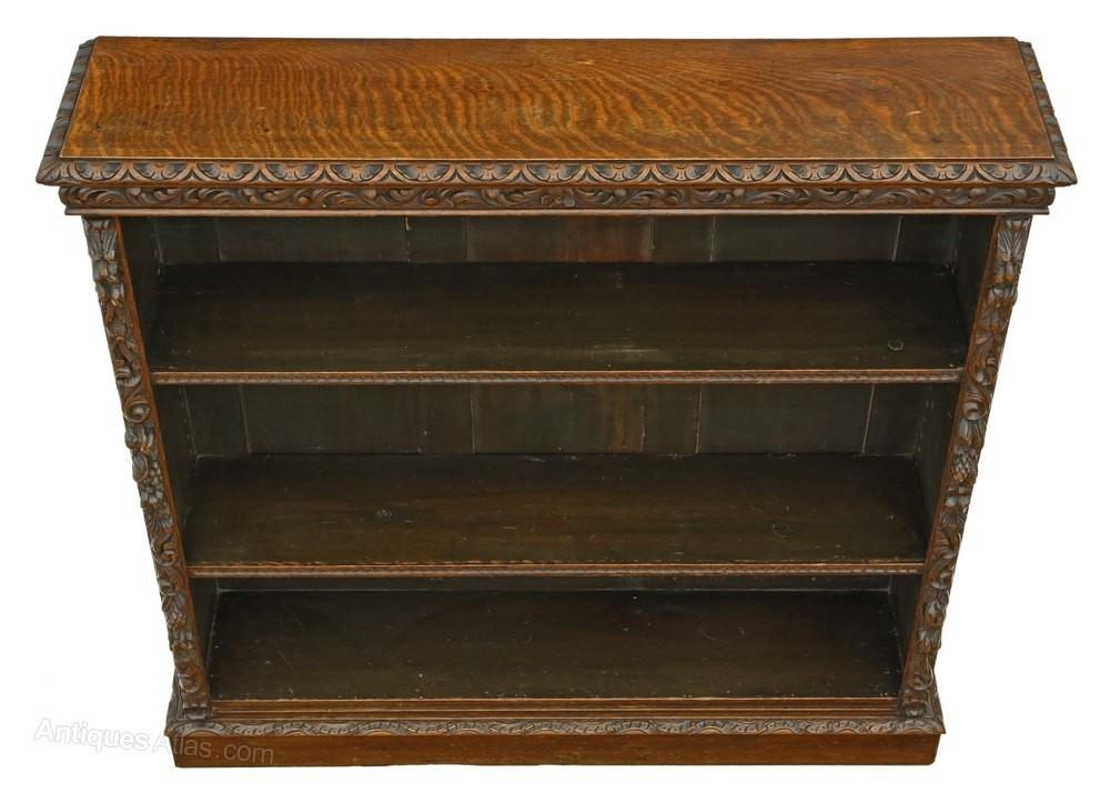 Victorian Carved Oak Bookcase Display Shelves Antiques Atlas