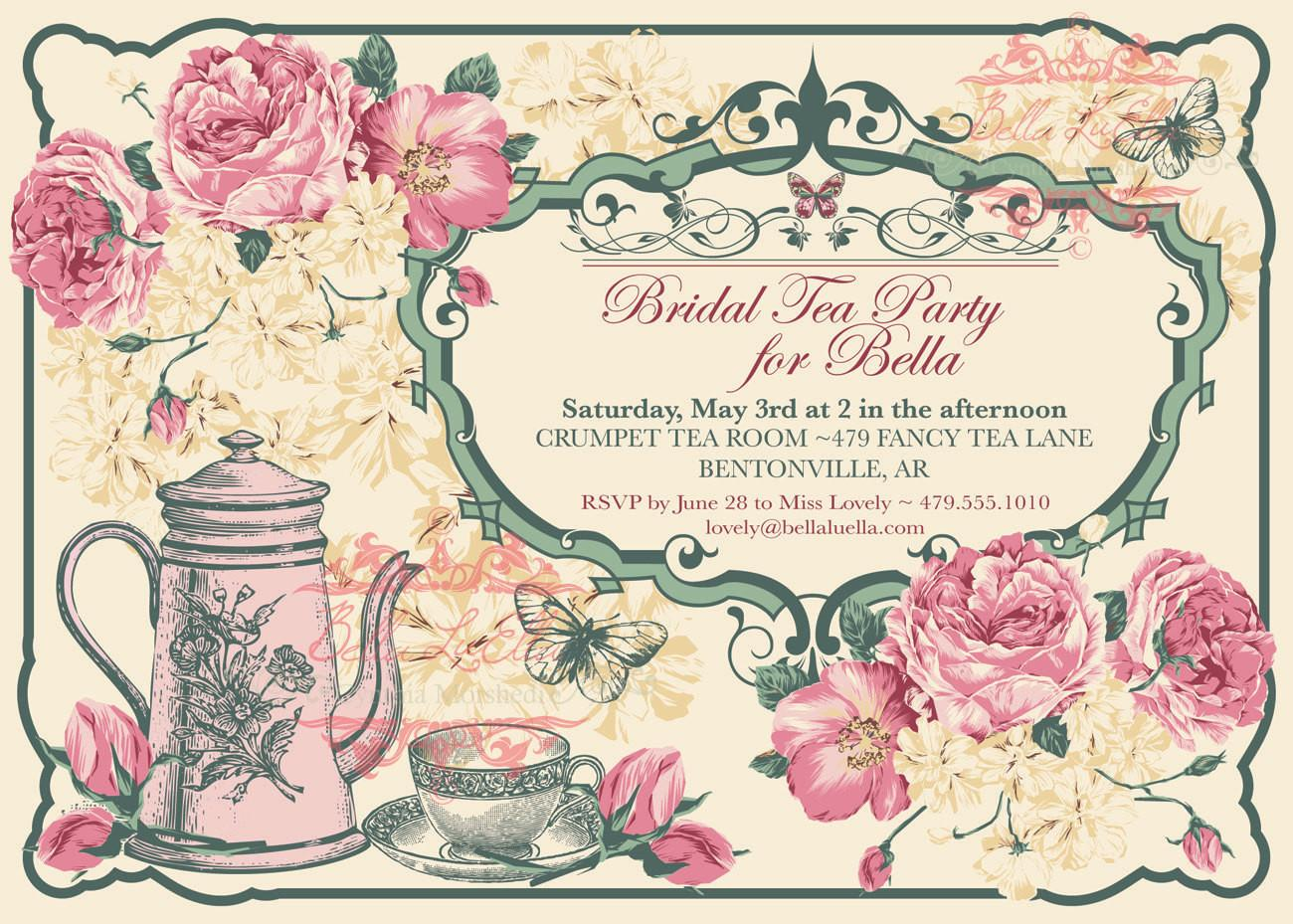 Victorian Christmas Tea Party Invitations Disneyforever