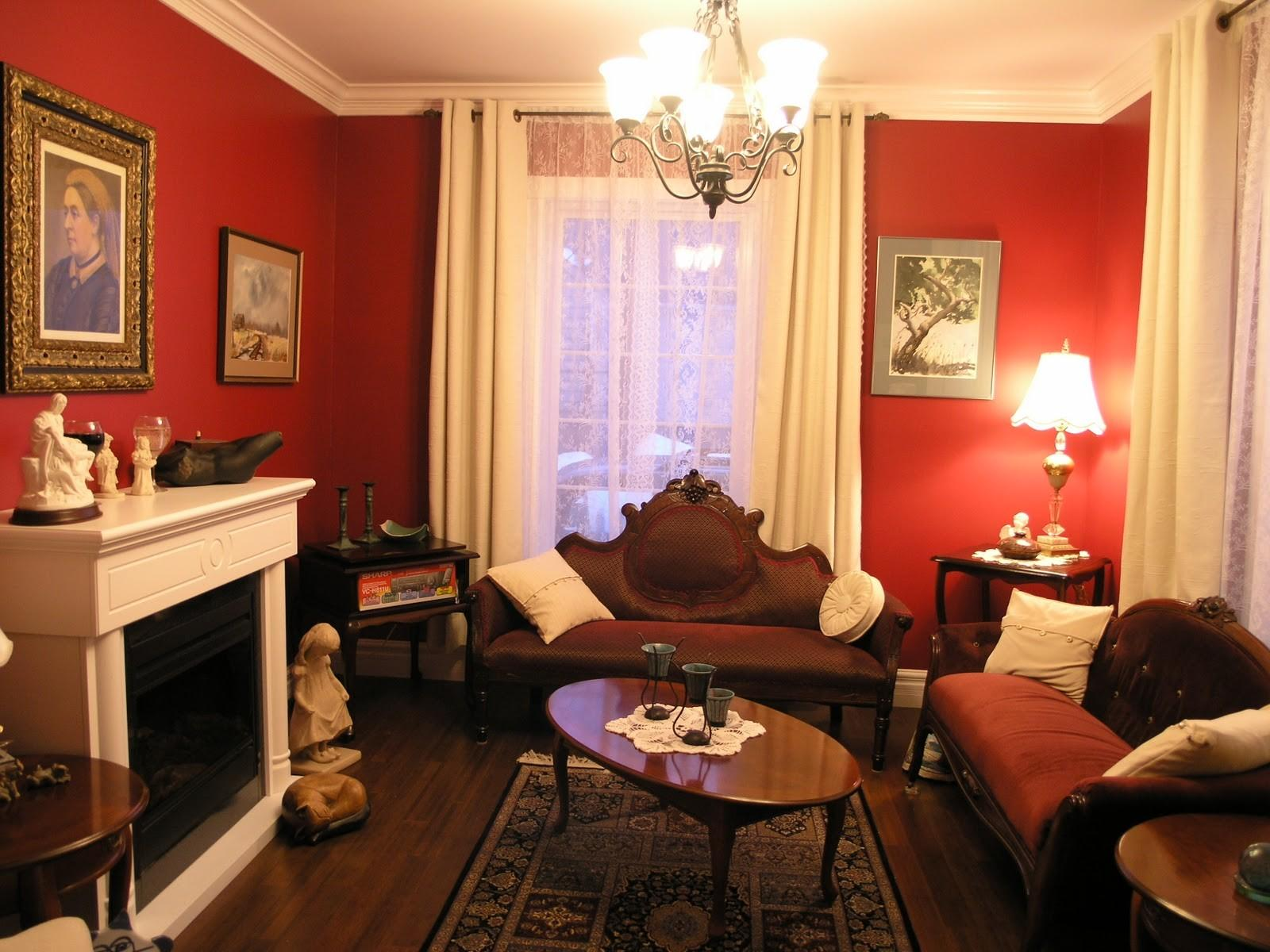Victorian Living Room Ideas Homesfeed Red Wall White