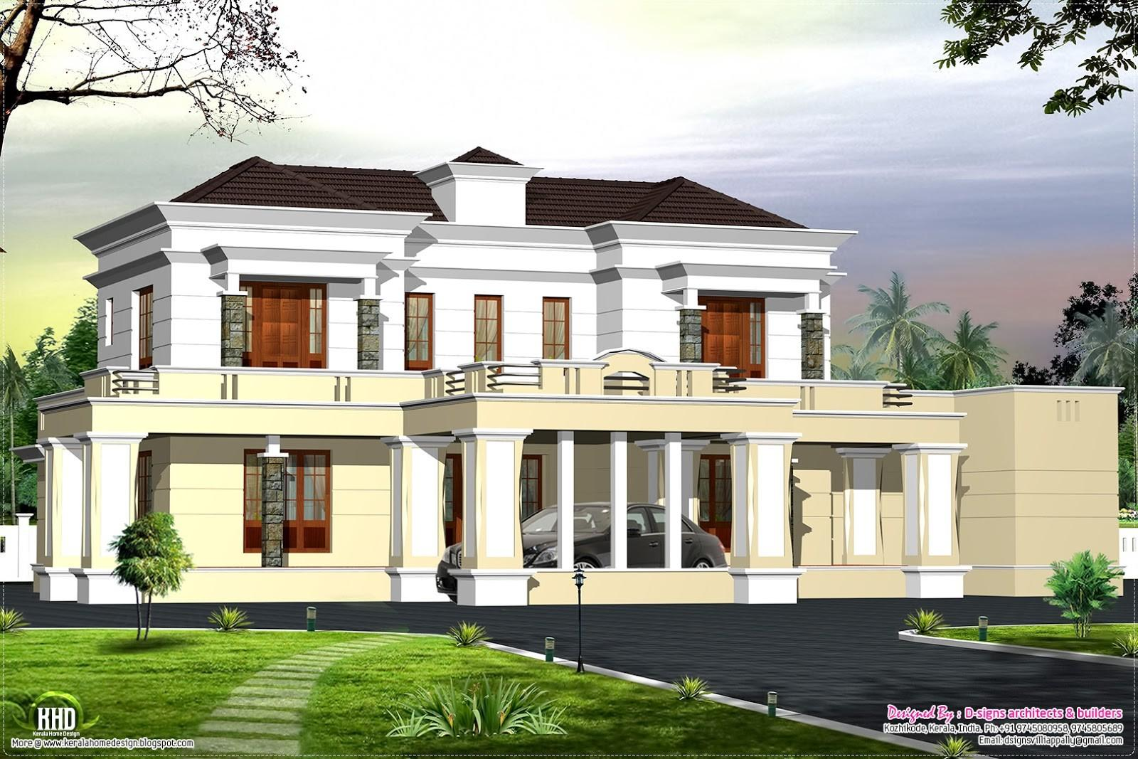 Victorian Style Luxury Home Design Kerala