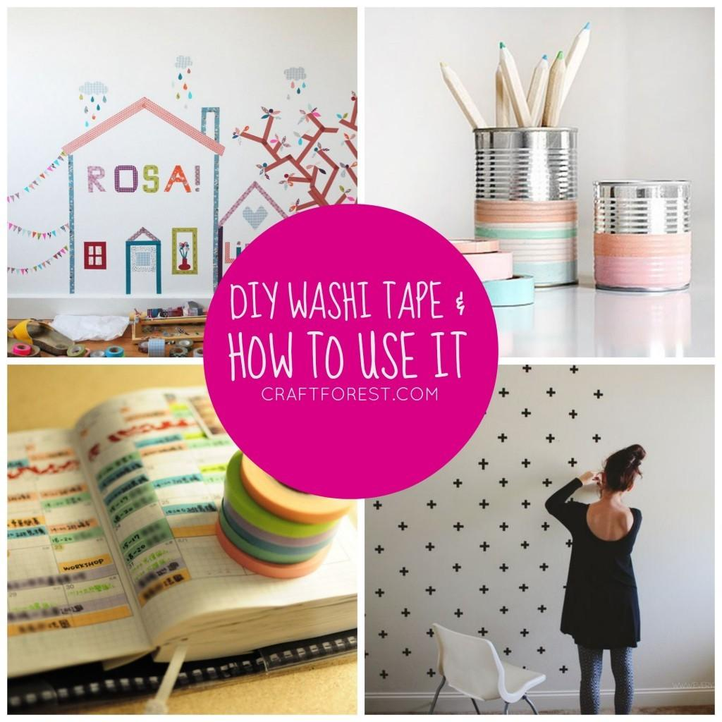 Video Diy Fabric Washi Tape Craft Projects
