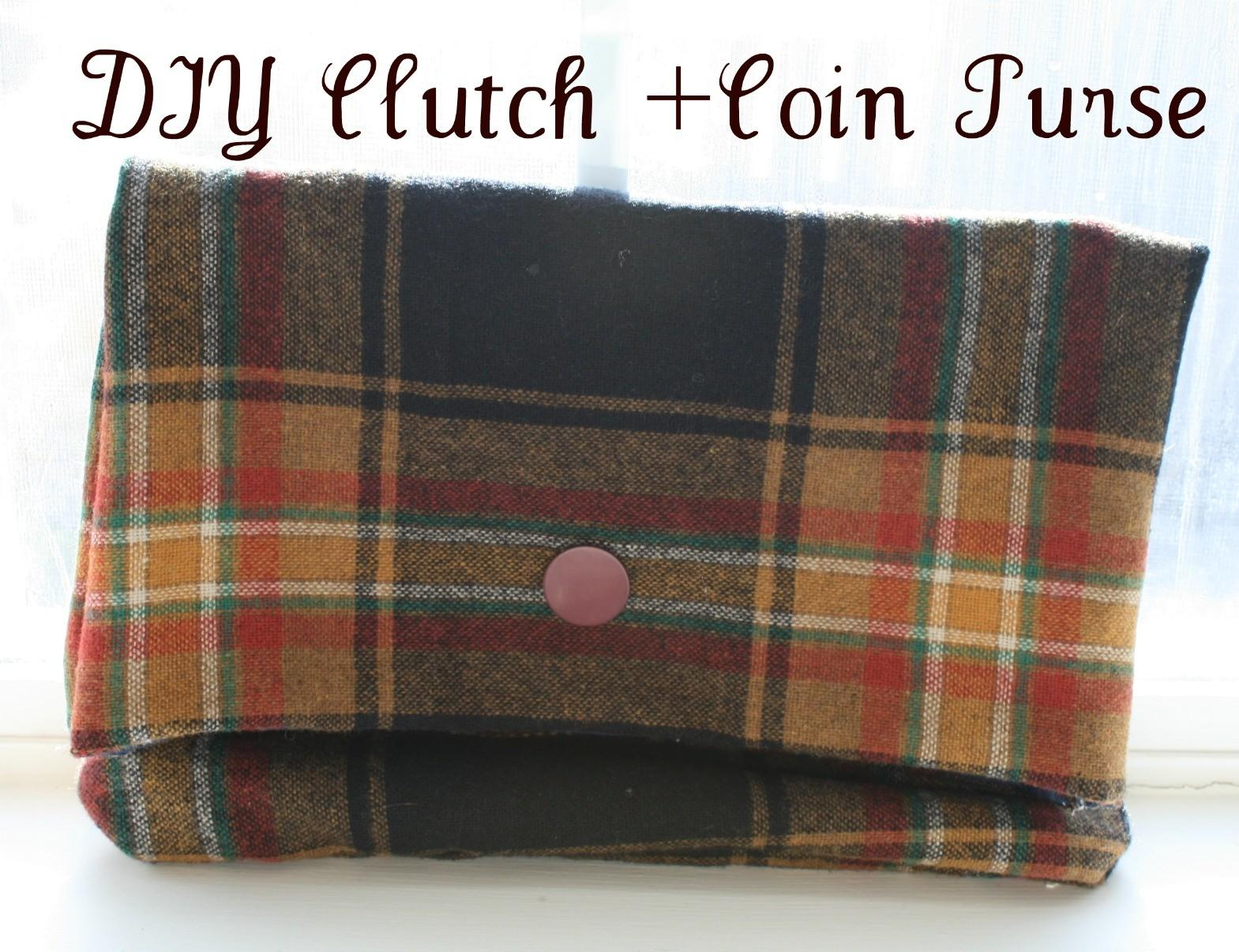 Vie Diy Ruffle Your Feathers Clutch Coin Purse