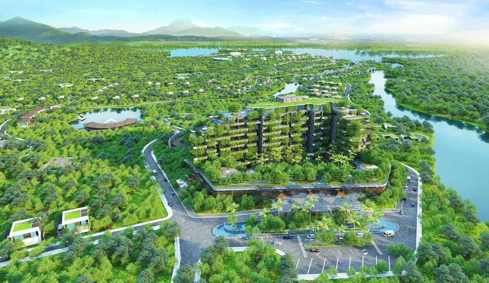 Vietnam Forest Sky Apartment Building Topped