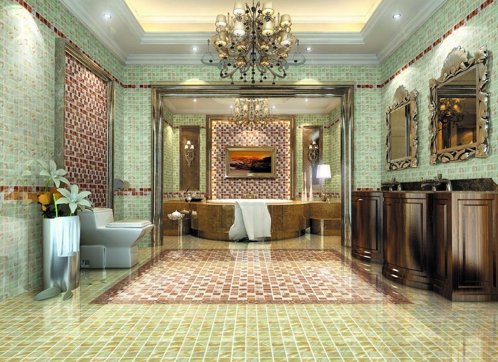 Villa Luxury Bathroom Interior Design European Style