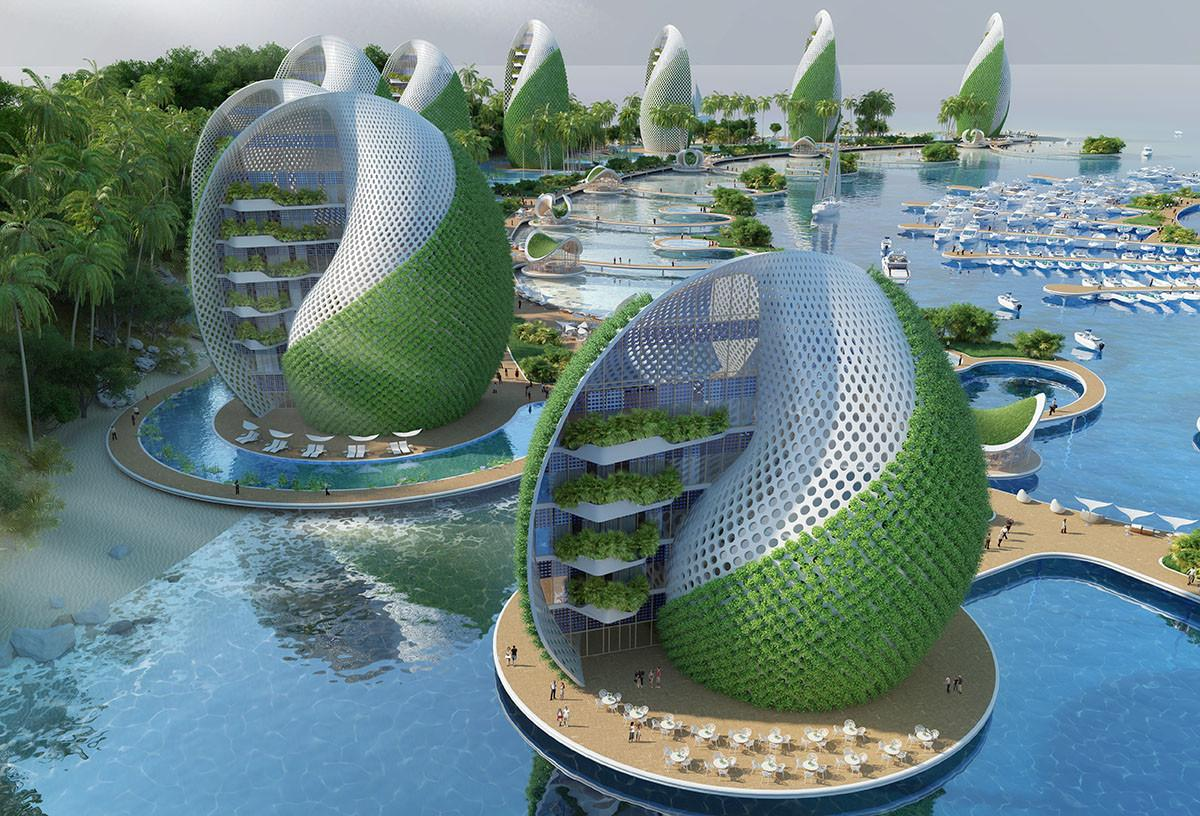 Vincent Callebaut Proposes Shell Shaped Eco Resort
