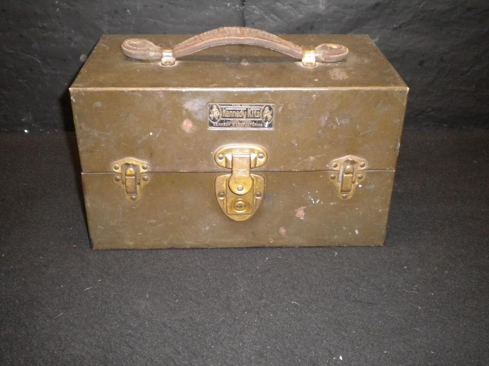Vintage 1910 Kennedy Kits Tackle Fishing Box Leather