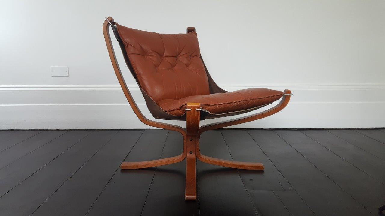 Vintage 1970s Sigurd Ressell Framed Falcon Chair