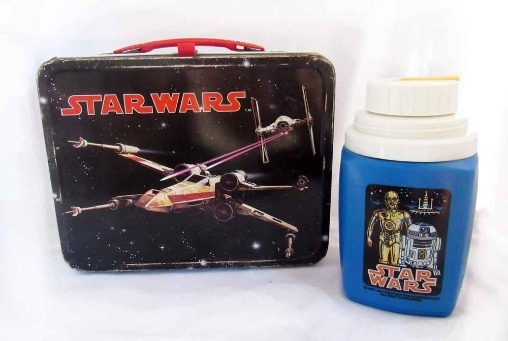 Vintage 1977 Star Wars Wing Fighter Metal Lunch Box