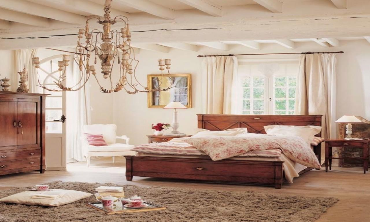 Vintage Bedroom Lighting Country Chic Decorating