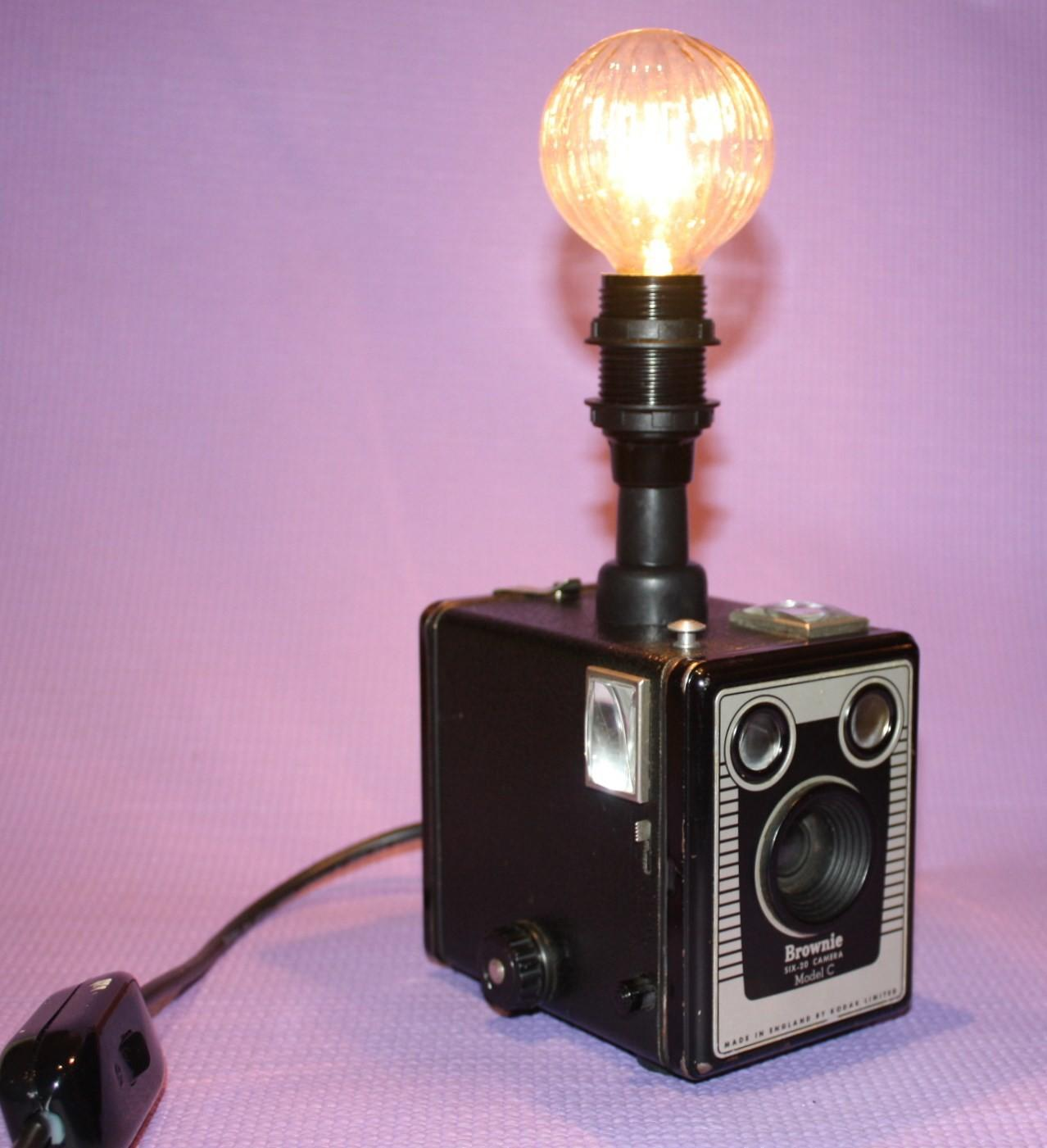 Vintage Camera Table Lamps