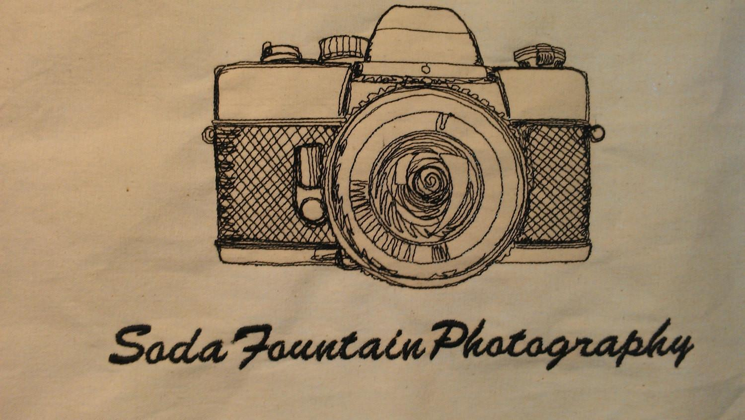 Vintage Camera Tote Bag Personalized Add Your Own Text