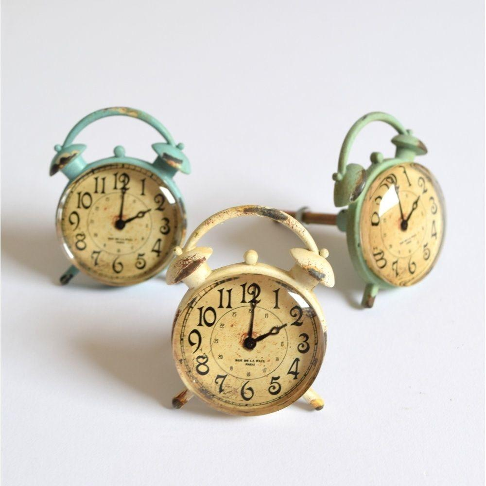 Vintage Chic Alarm Clock Face Drawer Knob Door Handle Pull