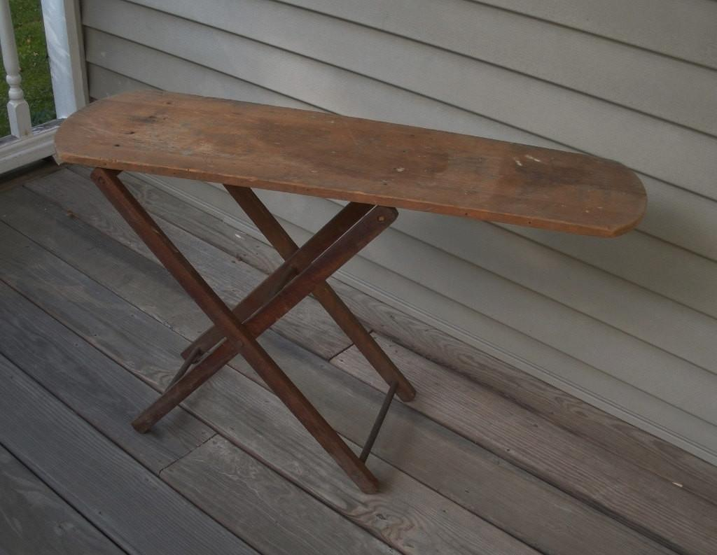 Vintage Childs Wooden Ironing Board