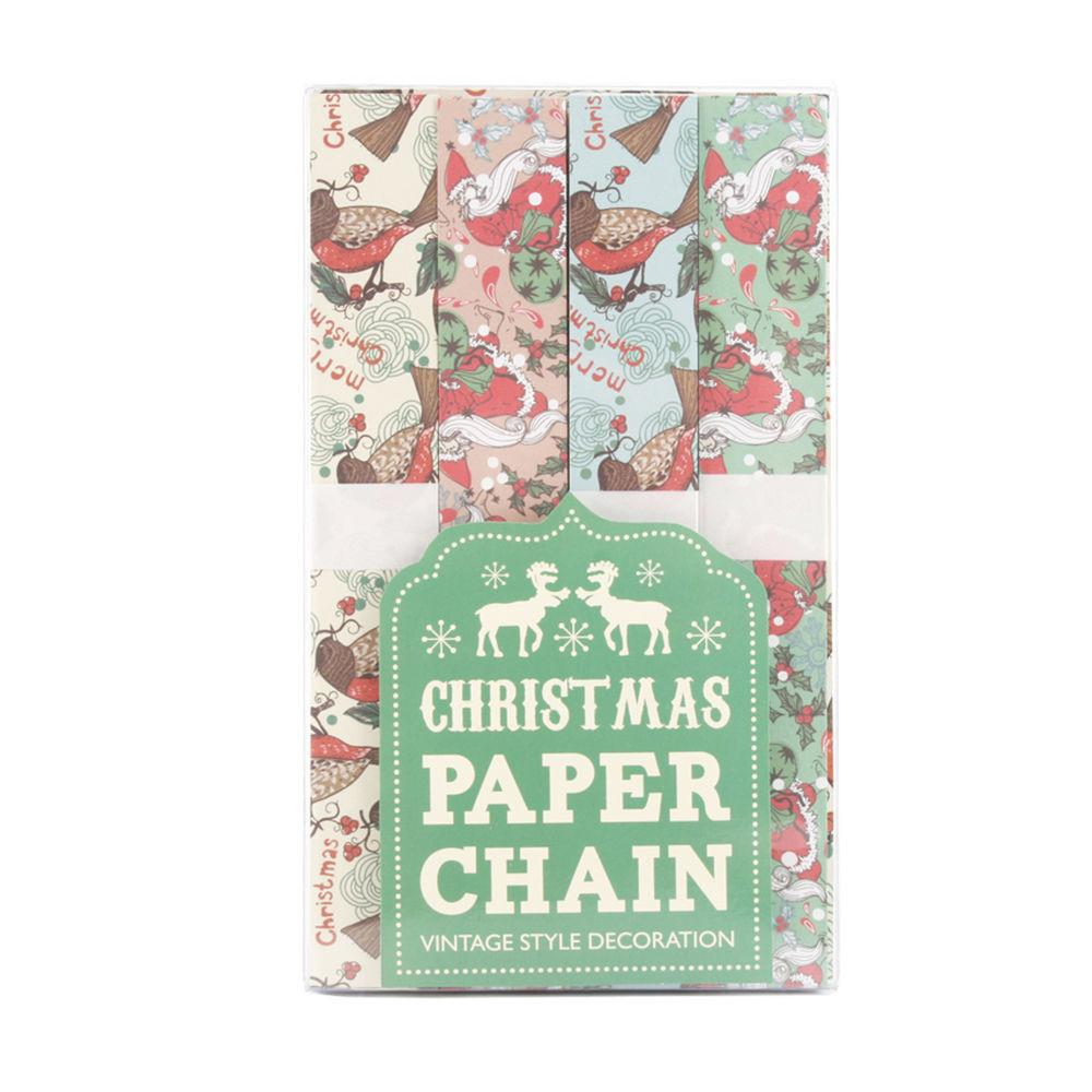 Vintage Christmas Paper Chains Decorations Approx 10m