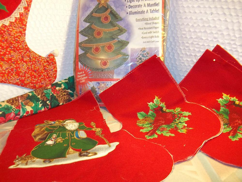 Vintage Collectable Christmas Craft Lot Finish