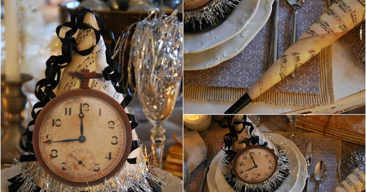 Vintage Country Style Farm New Years Tablescape