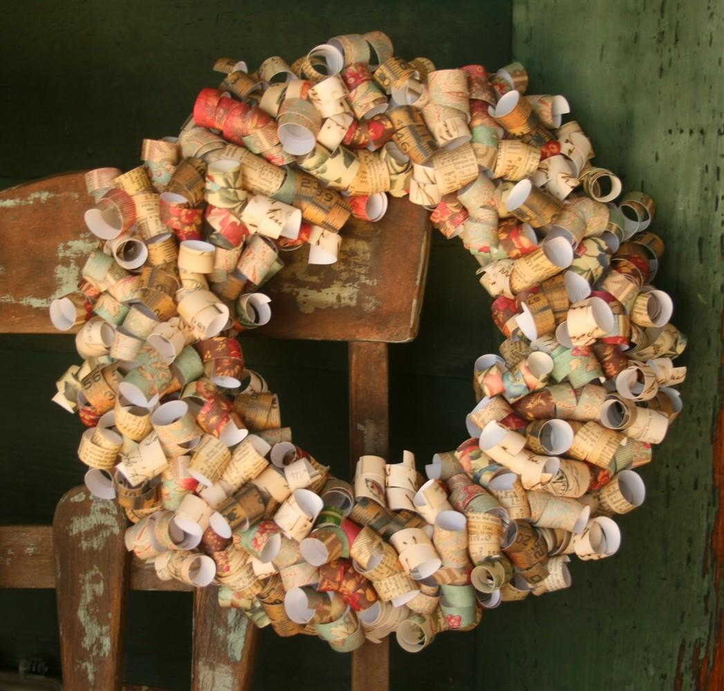 Vintage Curly Paper Wreath Crafted Living
