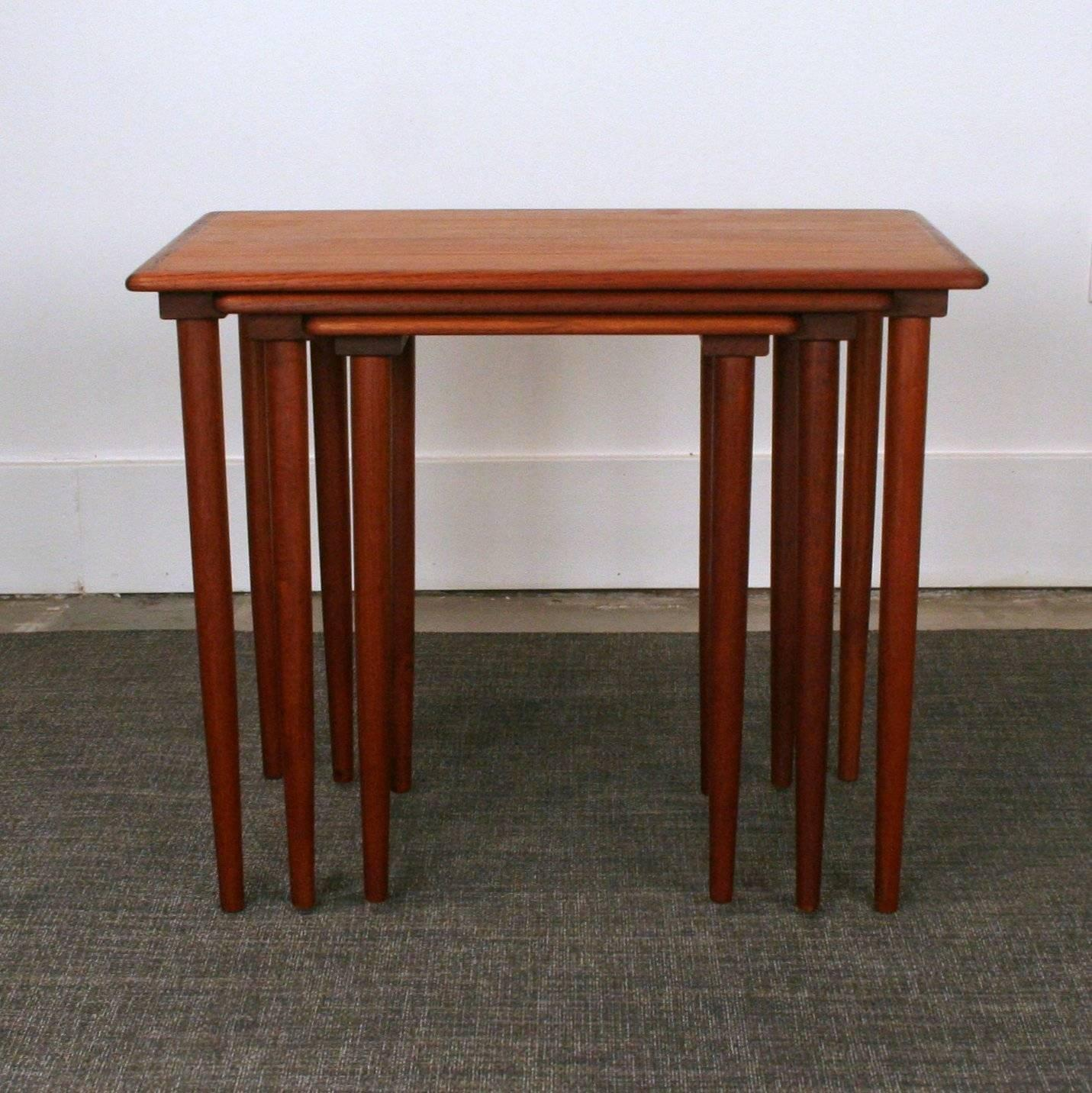 Vintage Danish Teak Nesting Tables Sale 1stdibs