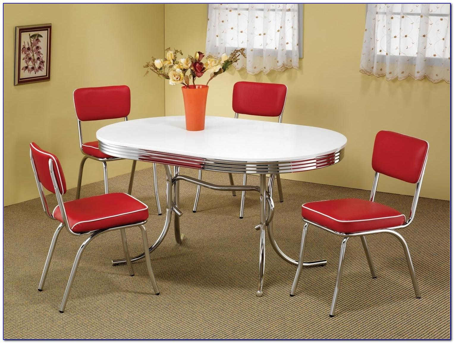 Vintage Dining Room Sets Chrome Home