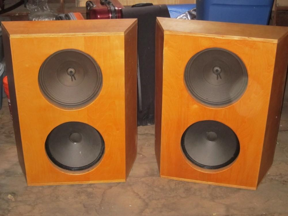 Vintage Diy Twin Open Baffle Woofers Cabinets