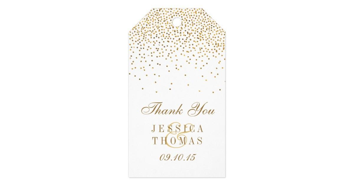 Vintage Glam Gold Confetti Wedding Collection Gift