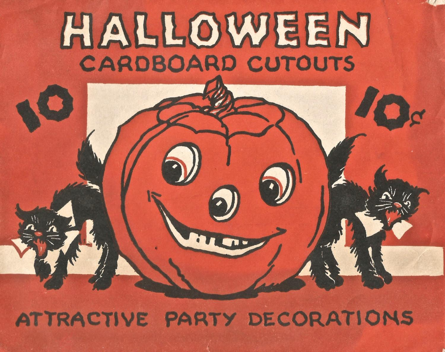 Vintage Halloween Party Decorations Jol Black Cat Digital