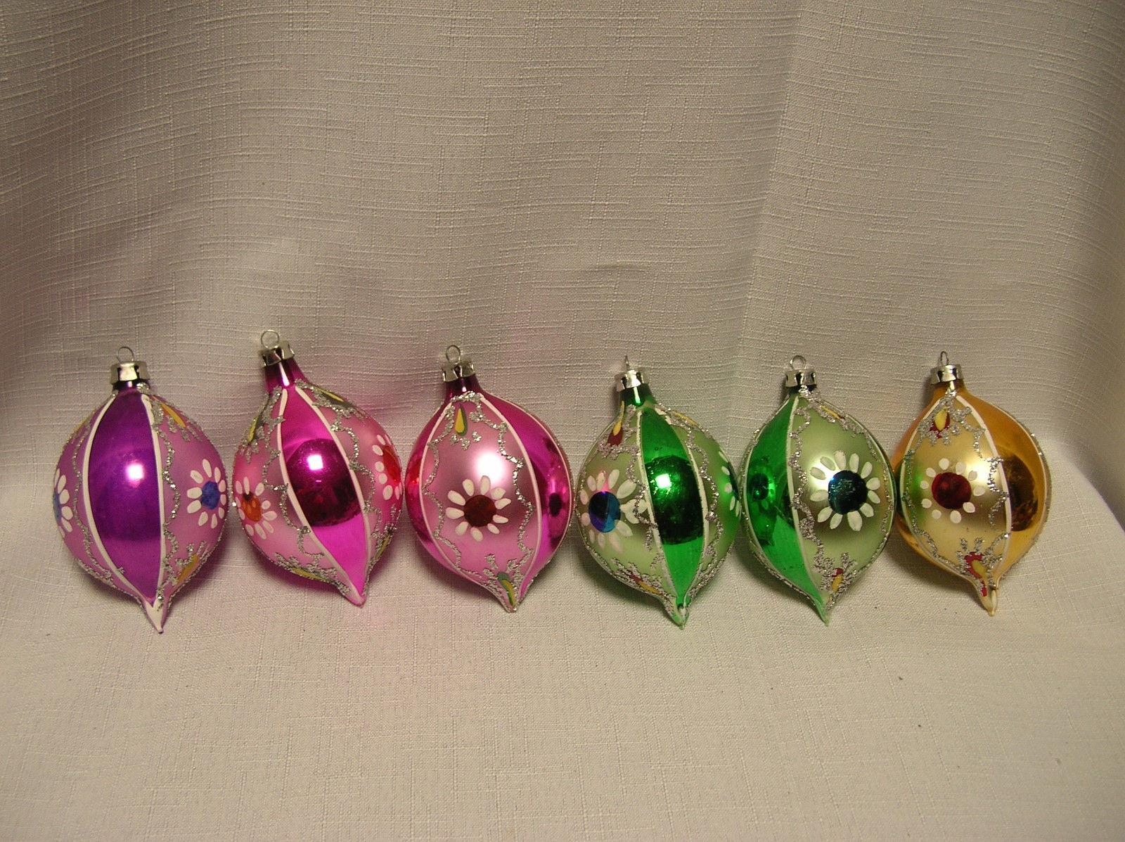Vintage Hand Painted Glass Christmas Ornaments Poland