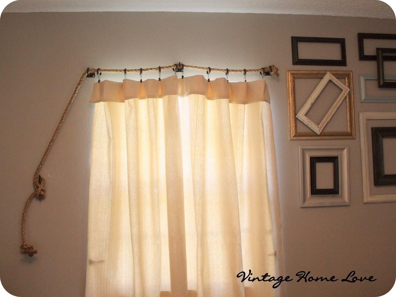 Vintage Home Love Rope Curtain Rod Diy Curtains