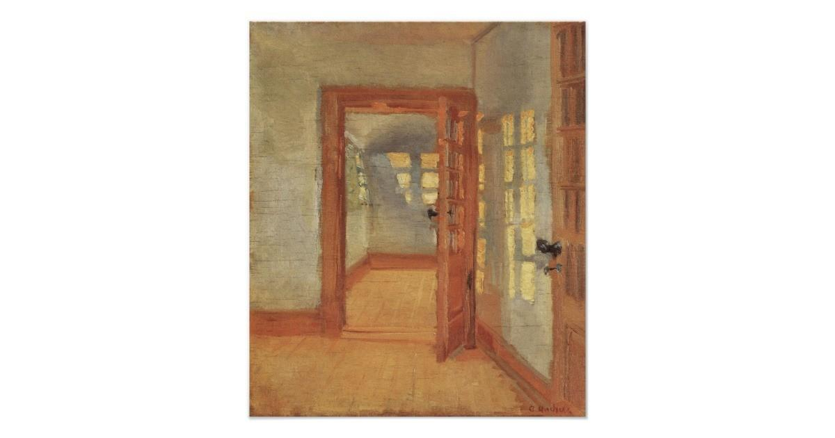 Vintage Impressionism House Interior Anna Ancher Poster