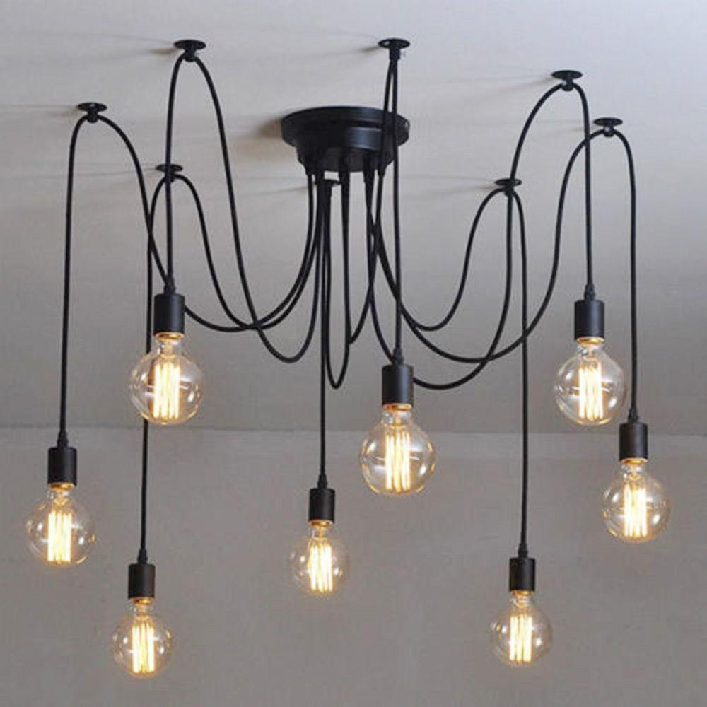 Vintage Industrial Adjustable Diy Retro Pendant Light