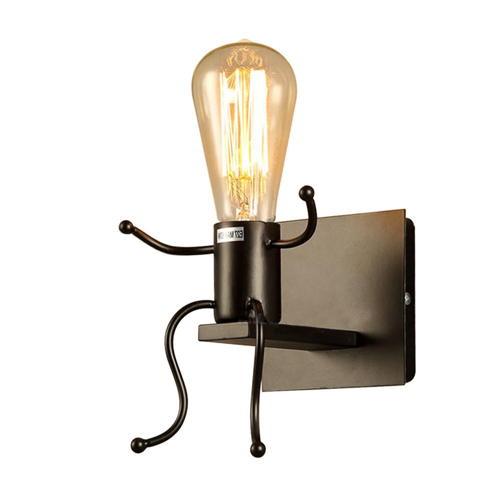 Vintage Industrial Black Wall Light Sconce Lamp Retro