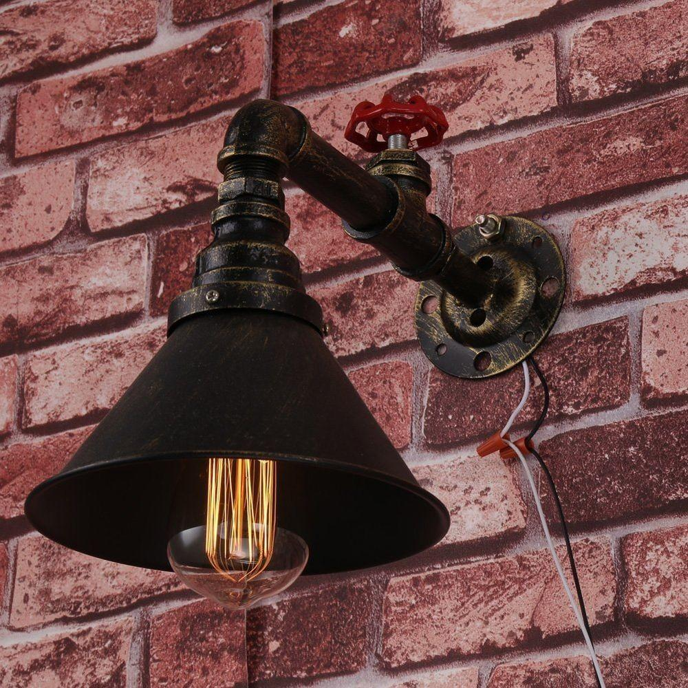 Vintage Industrial Style Water Pipe Loft Wall Sconce Diy