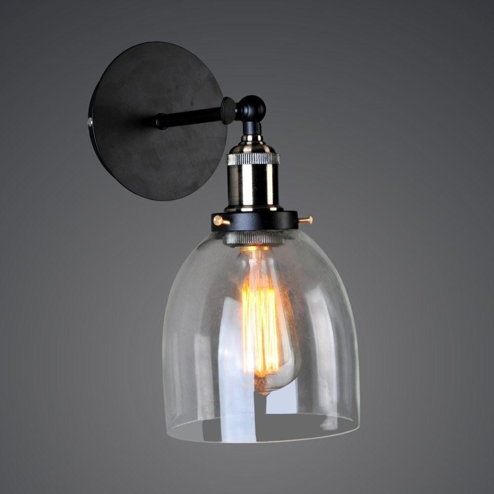 Vintage Industrial Wall Glass Lamp Retro Metal Light Diy