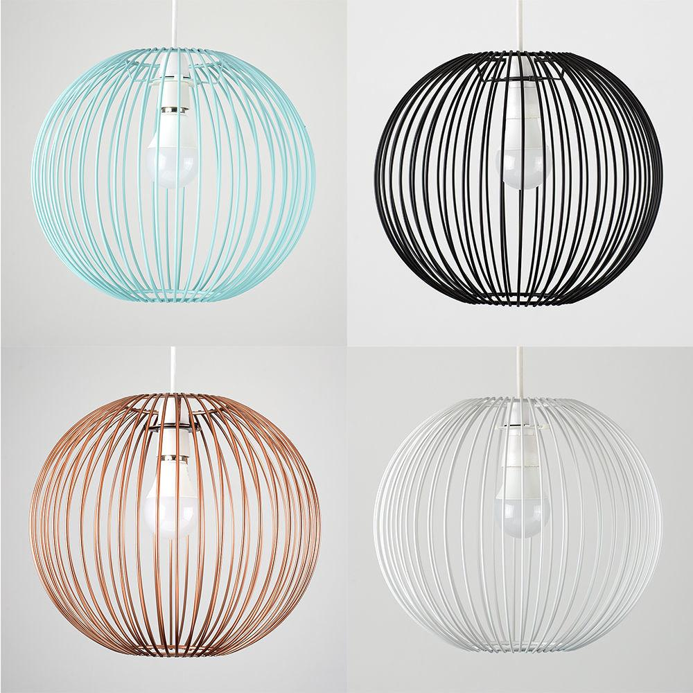 Vintage Industrial Wire Cage Non Ceiling Light Pendant