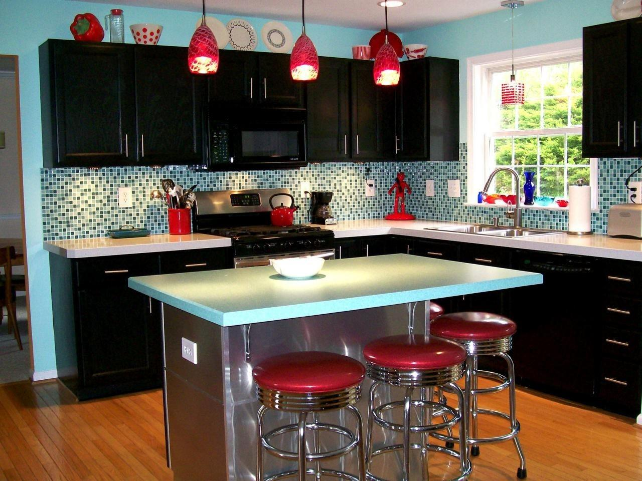 Vintage Kitchen Design Warm Paint Accent Wall Colors Round