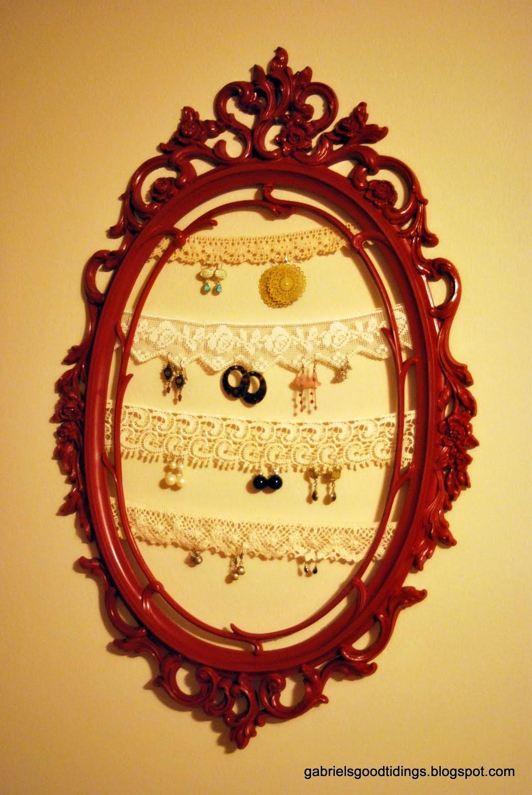 Vintage Lace Earring Holder Happy Housewife Home