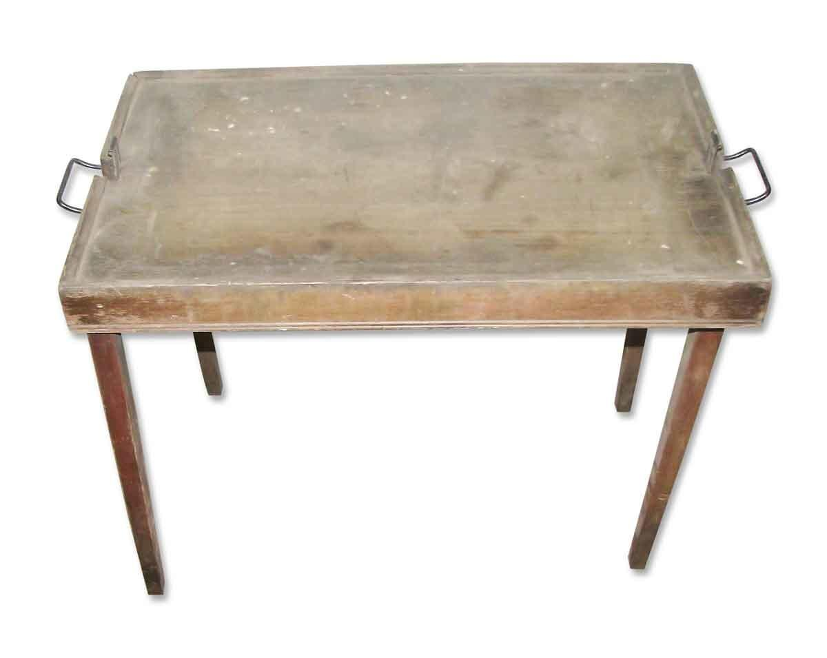 Vintage Leather Card Table Olde Good Things