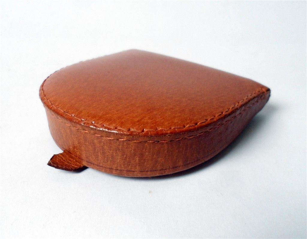 Vintage Leather Pig Skin Folding Coin Purse Circa 1960s
