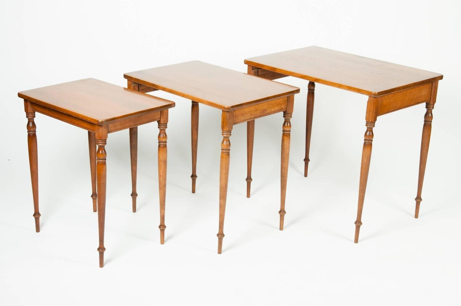 Vintage Light Mahogany Nesting Tables 1stdibs