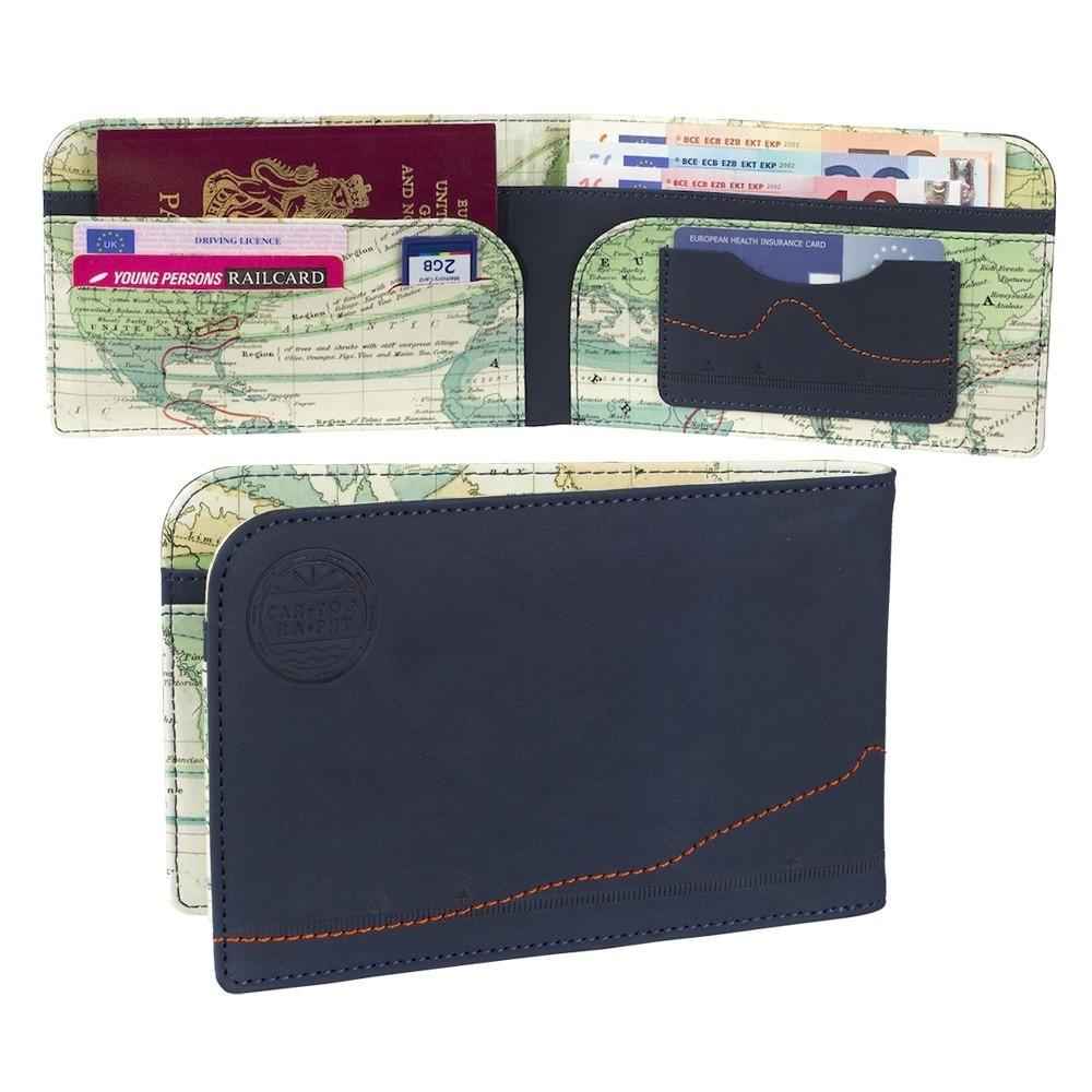 Vintage Map Cartography Travel Wallet Mollie Fred