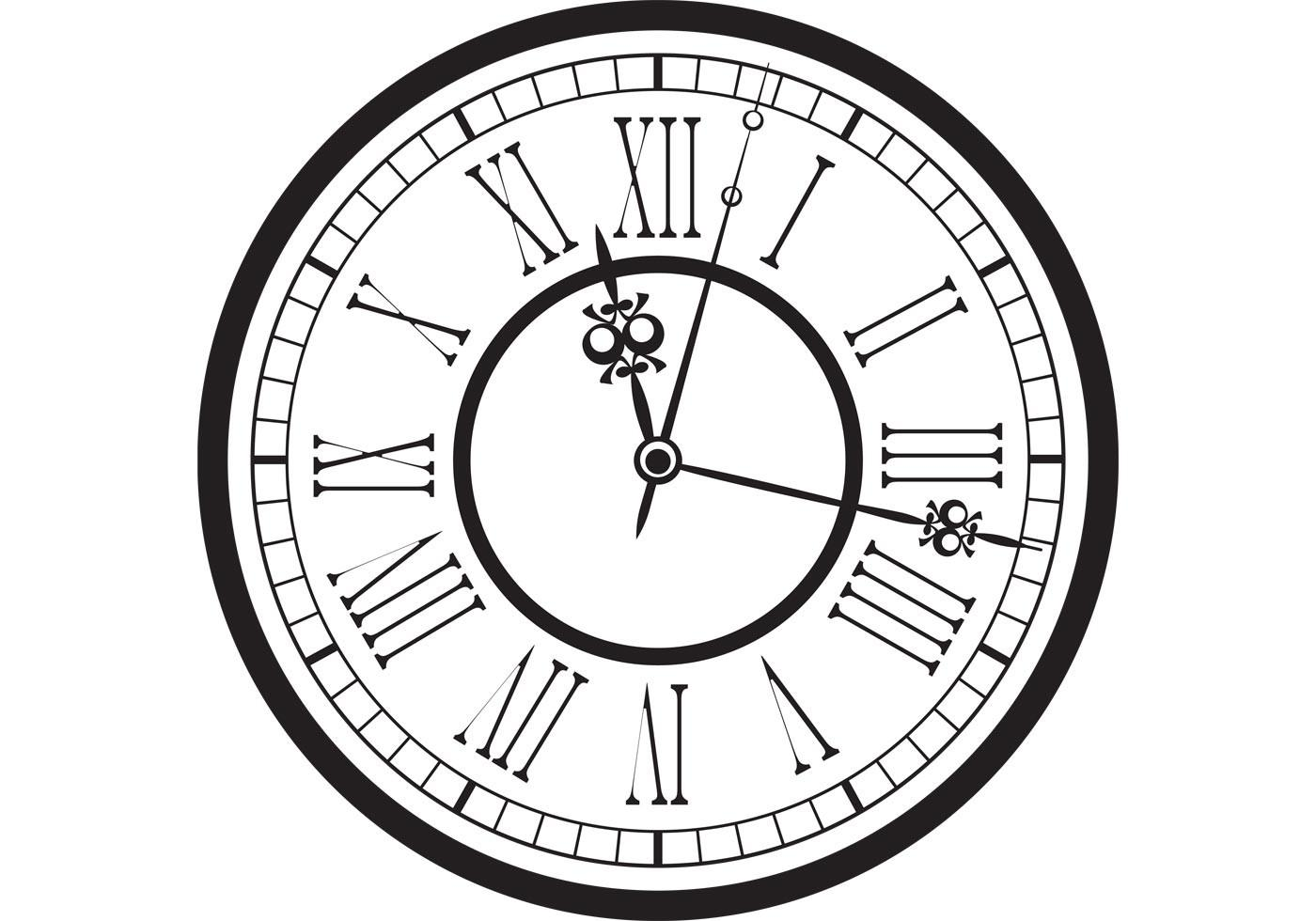 Vintage Old Clock Vector