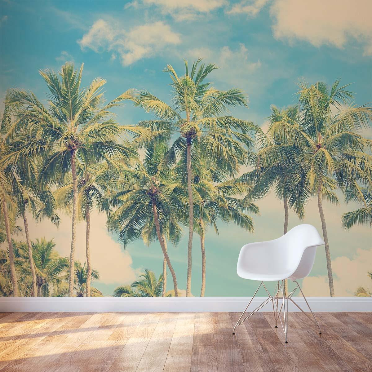 Vintage Palm Tree Wall Mural Decal